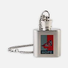 Hope: Spoon-billed Sandpiper Birdin Flask Necklace