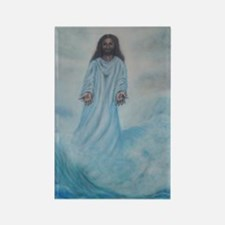 Jesus Walking On Water Rectangle Magnet