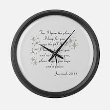 Jeremiah 29 Large Wall Clock