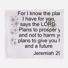 Jeremiah 29 Throw Blanket