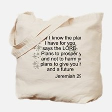 Jeremiah 29 Tote Bag