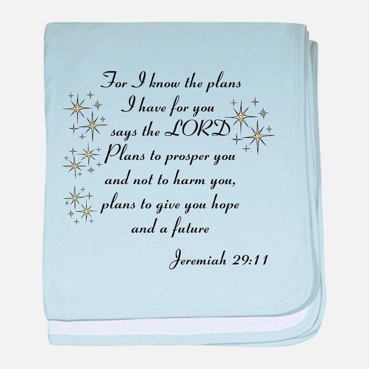 Jeremiah 29 baby blanket