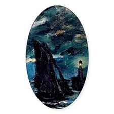 Claude Monet Shipping by Moonlight Decal