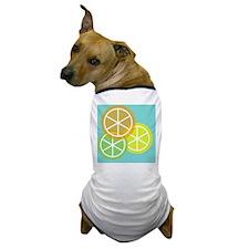 Summer Citrus - Teal Background Dog T-Shirt