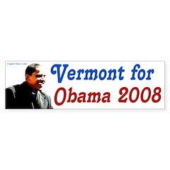 Vermont for Obama 2008 bumper sticker