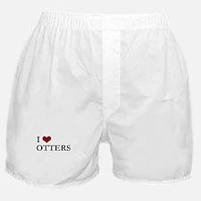 I Love Otters Boxer Shorts