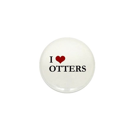 I Love Otters Mini Button (10 pack)