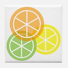 Summer Citrus - Transparent Backgroun Tile Coaster