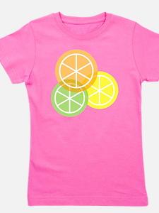 Summer Citrus - Transparent Background Girl's Tee