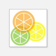 "Summer Citrus - Transparent Square Sticker 3"" x 3"""