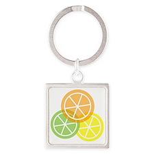 Flip Flops - Summer Citrus - Trans Square Keychain