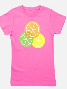 Flip Flops - Summer Citrus - Transparen Girl's Tee
