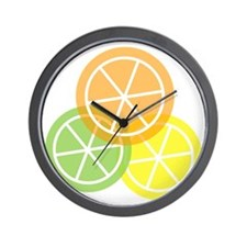 Flip Flops - Summer Citrus - Transparen Wall Clock