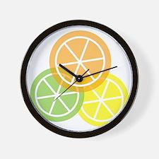 Flip Flops - Summer Citrus - Transparen Wall Clock