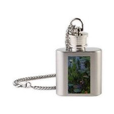 Monet Sea Roses Flask Necklace