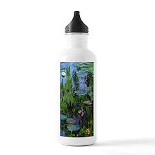 Monet Sea Roses Water Bottle