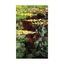 Monet Sea Rose Pond Decal