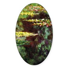 Monet Sea Rose Pond Decal