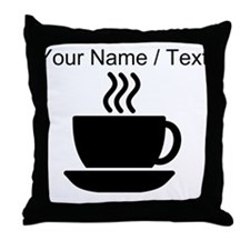 Custom Coffee Icon Throw Pillow