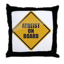 Atheist on Board Throw Pillow