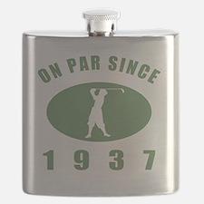 1937 Golfers Birthday Flask