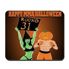 MMA Halloween Fighter and Ring Girl Mousepad
