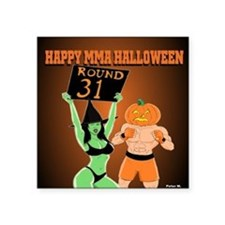 """MMA Halloween Fighter and R Square Sticker 3"""" x 3"""""""