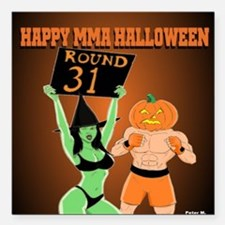 "MMA Halloween Fighter an Square Car Magnet 3"" x 3"""