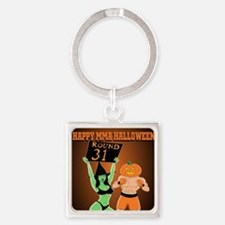 MMA Halloween Fighter and Ring Gir Square Keychain