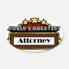 World's Greatest Attorney  Oval Car Magnet