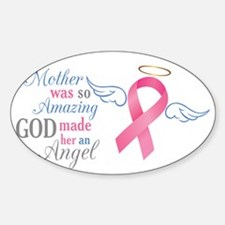 My Mother An Angel - Sticker (Oval)