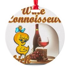 Wine Connoisseur Chick Ornament