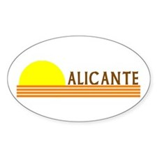 Alicante, Spain Oval Decal