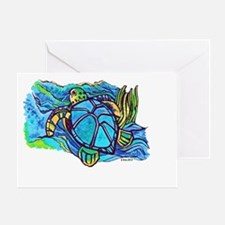 Tortola Sea Turtle Greeting Card