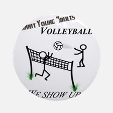 SYA volleyball Round Ornament