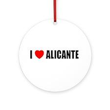 I Love Alicante, Spain Ornament (Round)