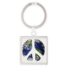 World Peace Square Keychain