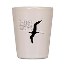 Bird Nerd (Frigatebird) Birding T-Shirt Shot Glass