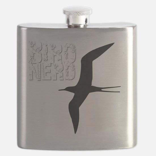 Bird Nerd (Frigatebird) Birding T-Shirt Flask
