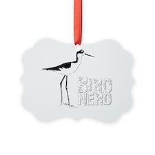Bird Nerd (Stilt) Birding T-Shirt Ornament