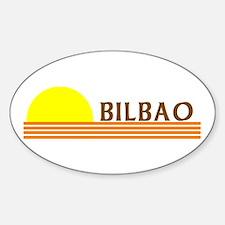 Bilbao, Spain Oval Decal