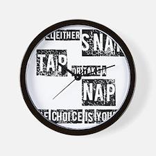 Snap, Tap, or Nap Wall Clock