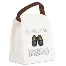 Id Rather Be Birding Birder T-Shi Canvas Lunch Bag