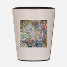 Angels, an original painting by Verneda Shot Glass