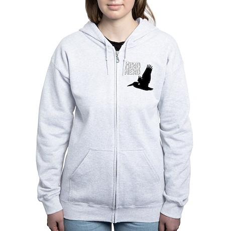 Bird Nerd (Pelican) Birding T-S Women's Zip Hoodie