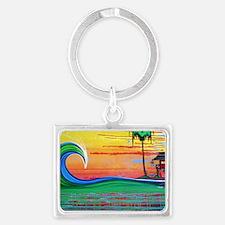 Drippy Island Landscape Keychain