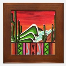 Cactus Point Framed Tile