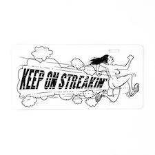Keep on Streakin Aluminum License Plate