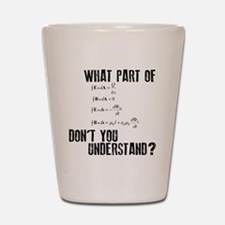Maxwells Equation Shot Glass