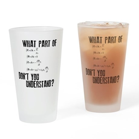 Maxwells Equation Drinking Glass